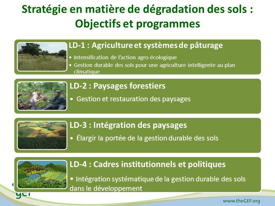 Stratégie en matière de dégradation des sols : Objectifs et programmes