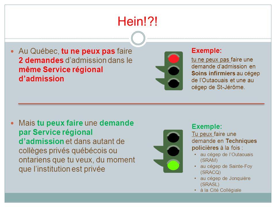Hein! ! Au Québec, tu ne peux pas faire 2 demandes d'admission dans le même Service régional d'admission.
