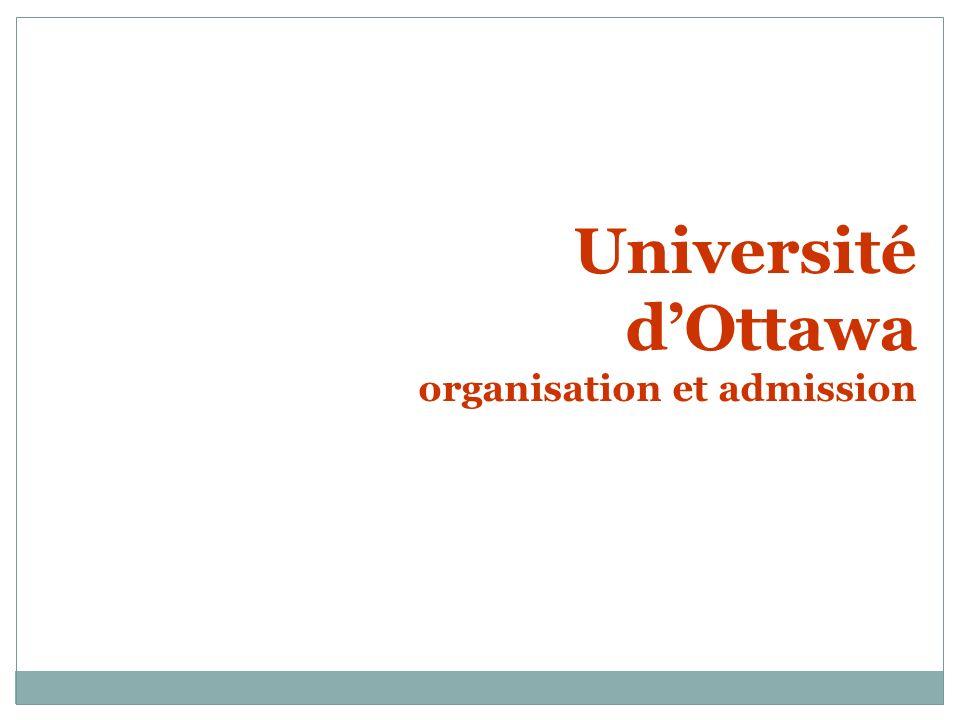 Université d'Ottawa organisation et admission