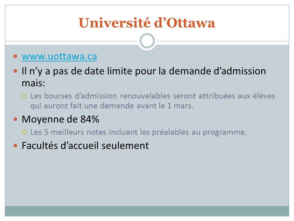 Université d'Ottawa www.uottawa.ca