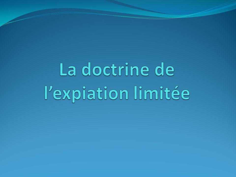 La doctrine de l'expiation limitée