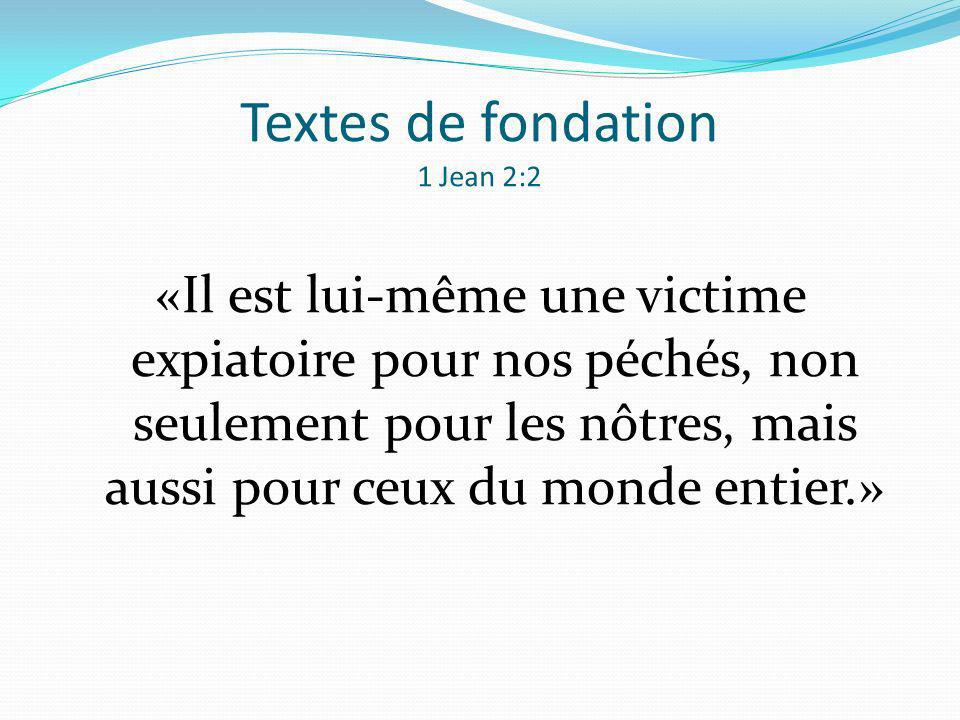 Textes de fondation 1 Jean 2:2