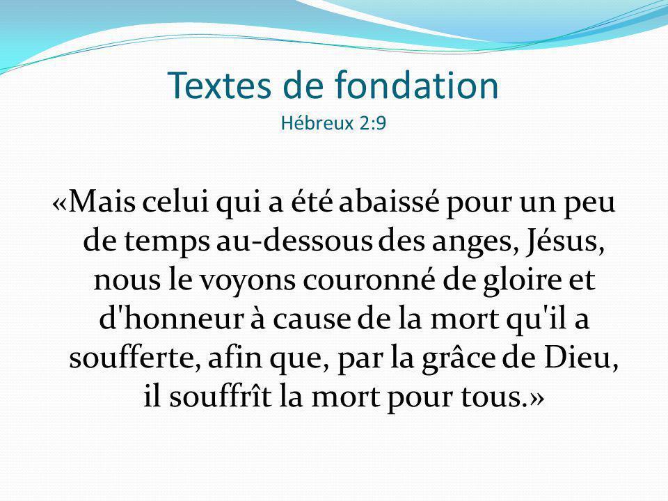 Textes de fondation Hébreux 2:9