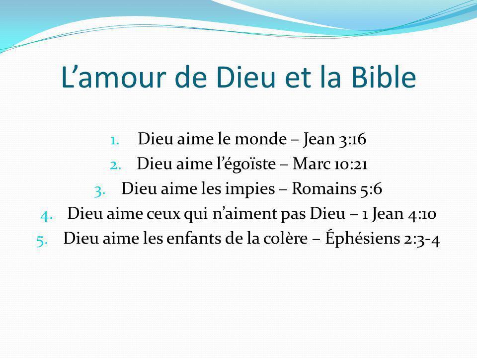 L'amour de Dieu et la Bible