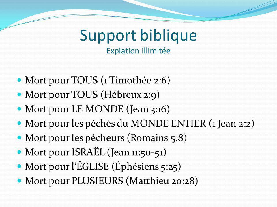 Support biblique Expiation illimitée