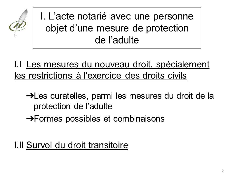 I. L'acte notarié avec une personne objet d'une mesure de protection