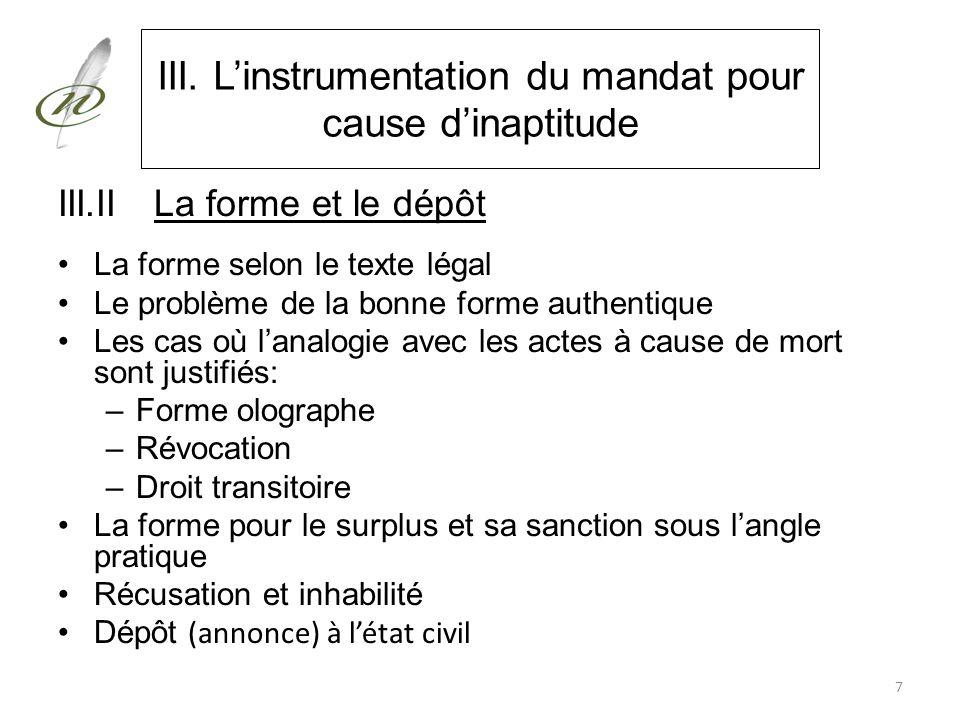 IV. La substitution fidéicommissaire pour le surplus grevant la réserve du descendant incapable de discernement