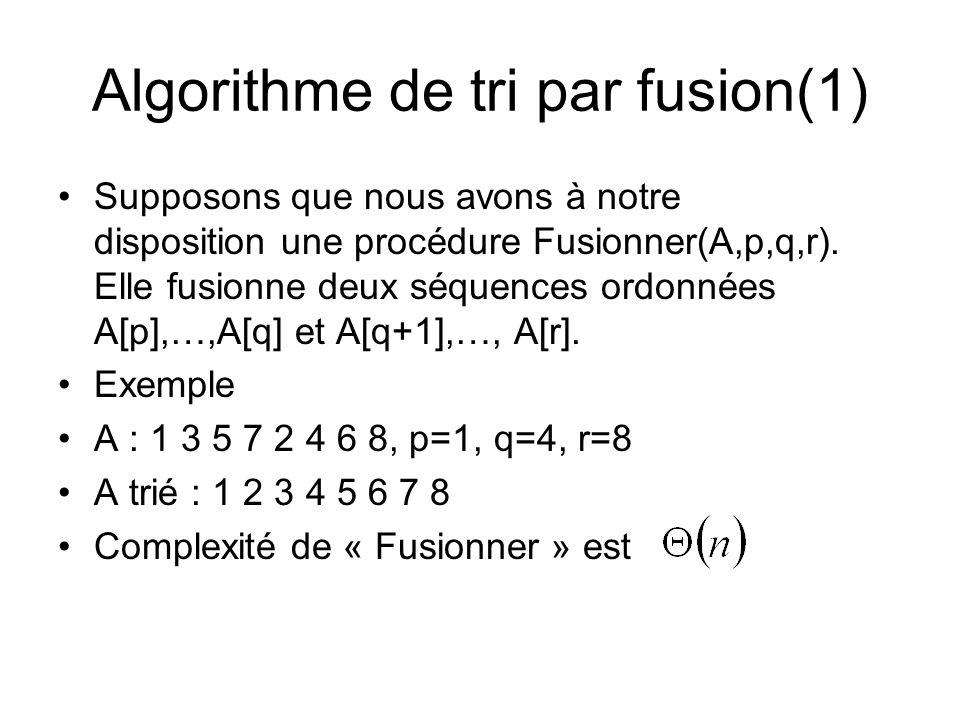 Algorithme de tri par fusion(1)
