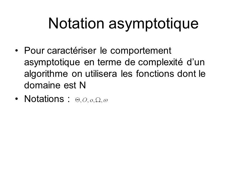 Notation asymptotique