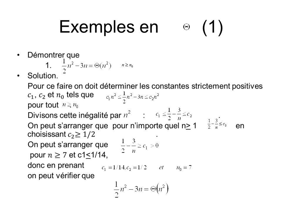 Exemples en (1)