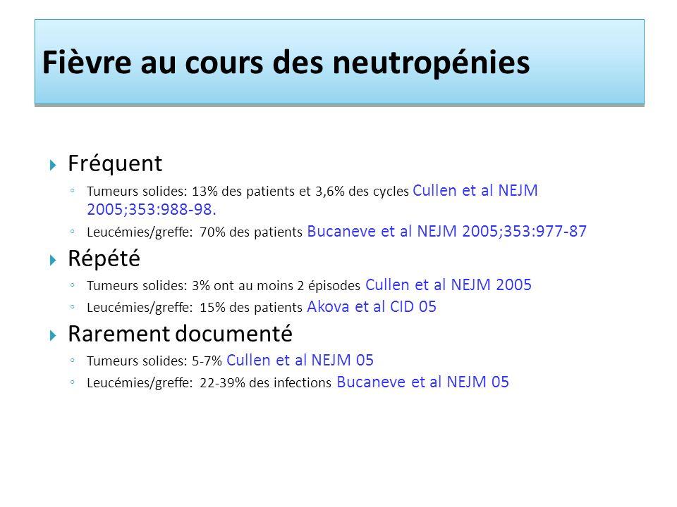 Fièvre au cours des neutropénies