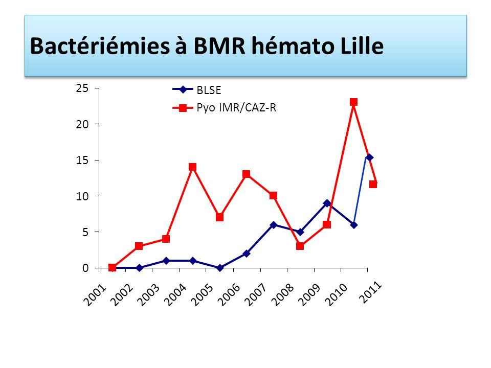 Bactériémies à BMR hémato Lille