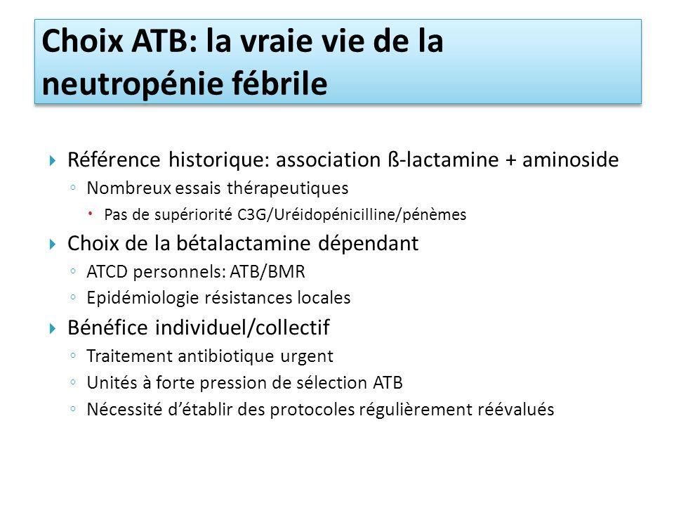 Choix ATB: la vraie vie de la neutropénie fébrile
