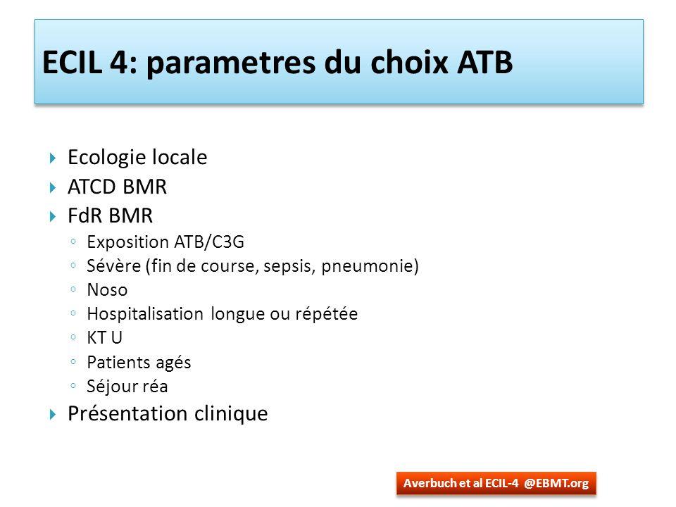 ECIL 4: parametres du choix ATB