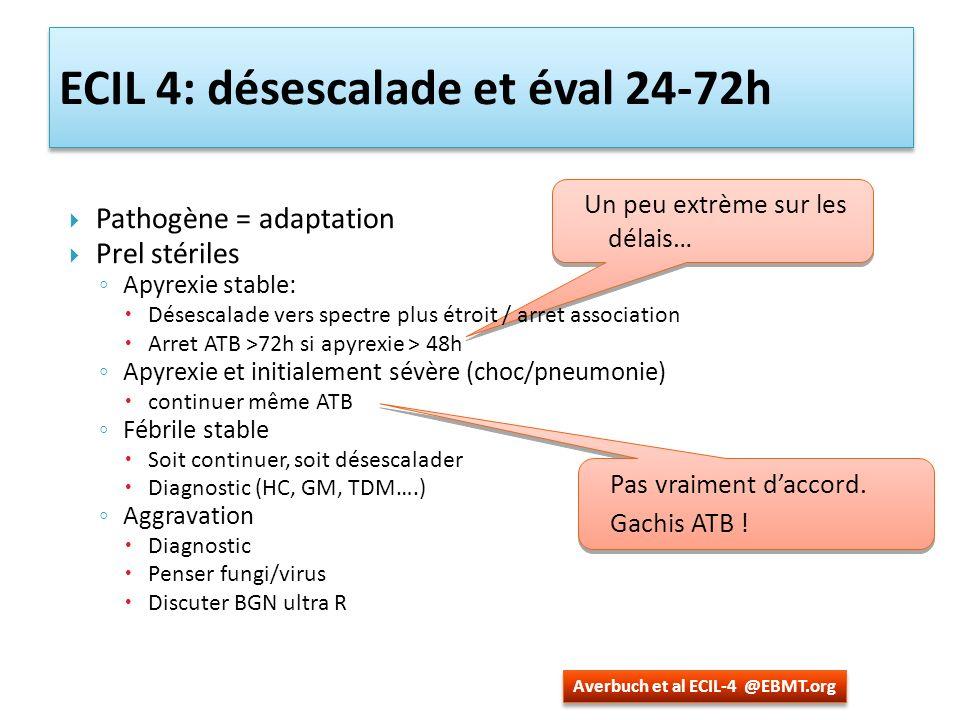 ECIL 4: désescalade et éval 24-72h
