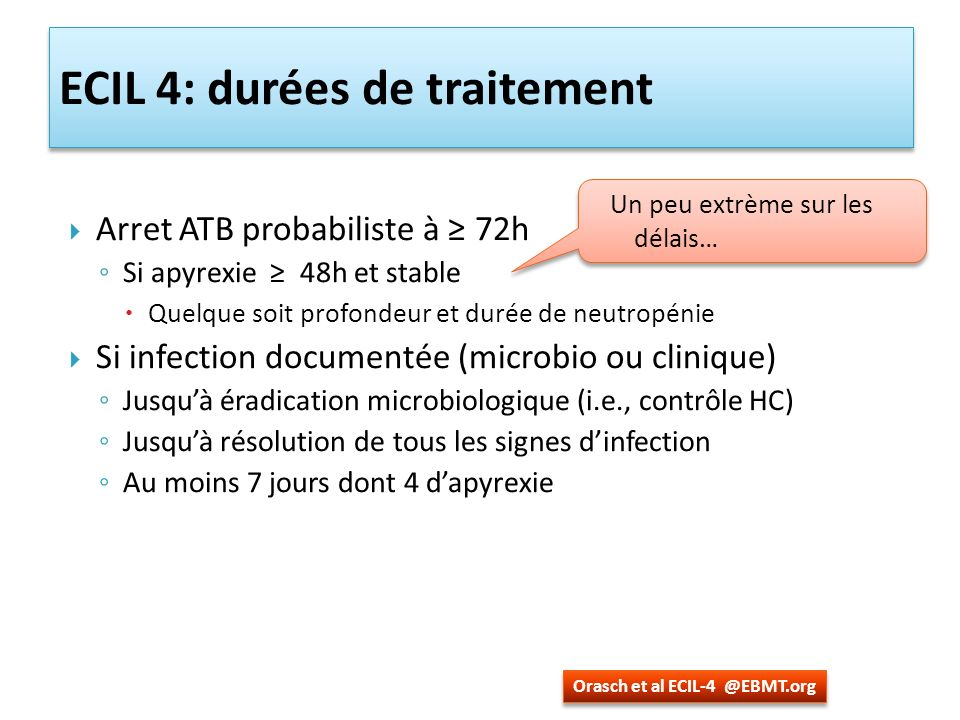ECIL 4: durées de traitement