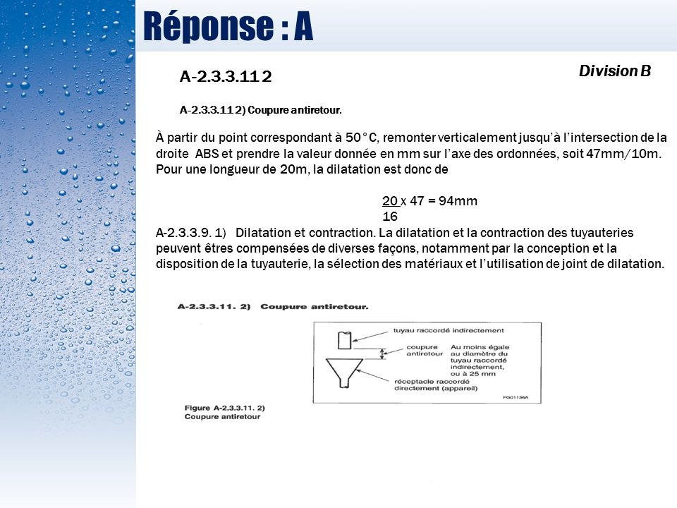 Réponse : A Division B A-2.3.3.11 2