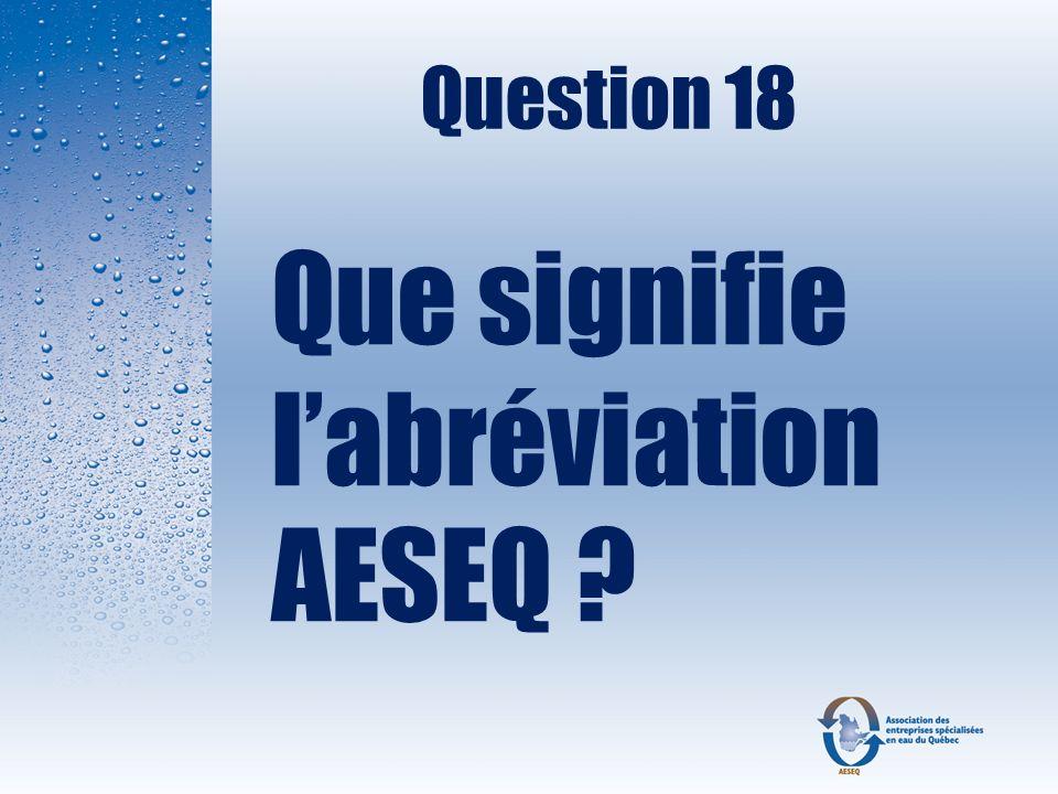 Que signifie l'abréviation AESEQ