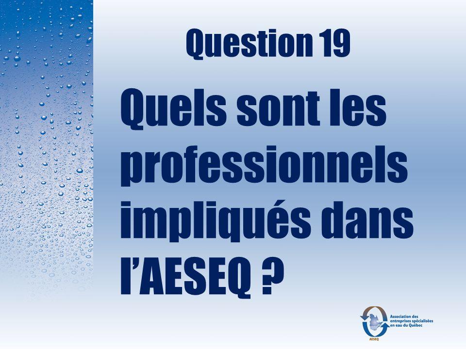 Quels sont les professionnels impliqués dans l'AESEQ