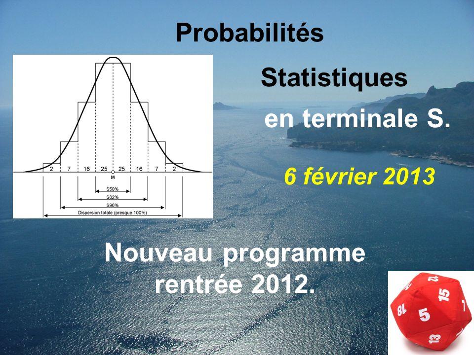 Nouveau programme rentrée 2012.