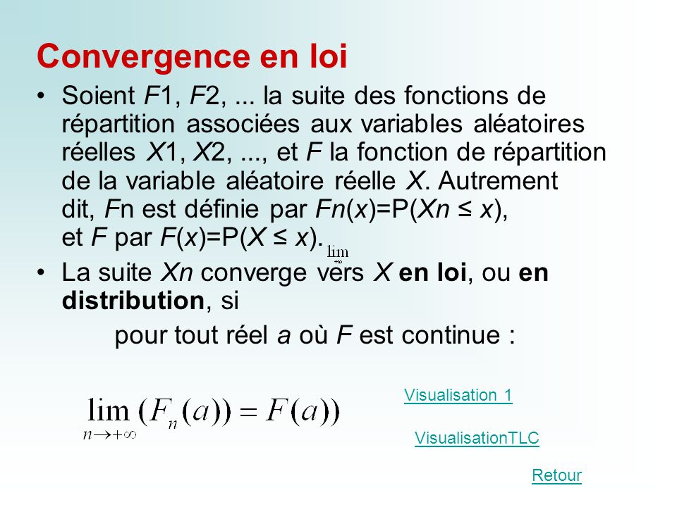 Convergence en loi