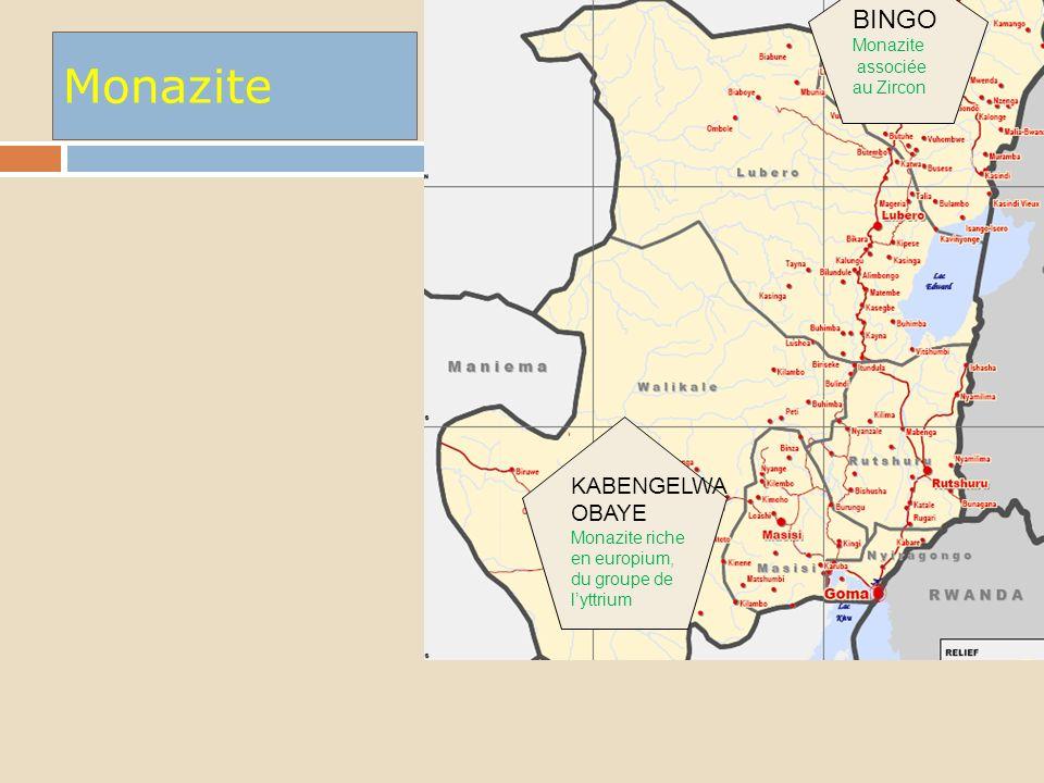 Monazite BINGO KABENGELWA OBAYE Monazite associée au Zircon