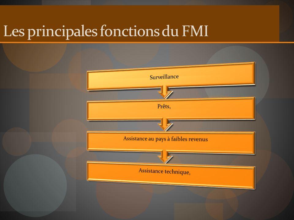 Les principales fonctions du FMI