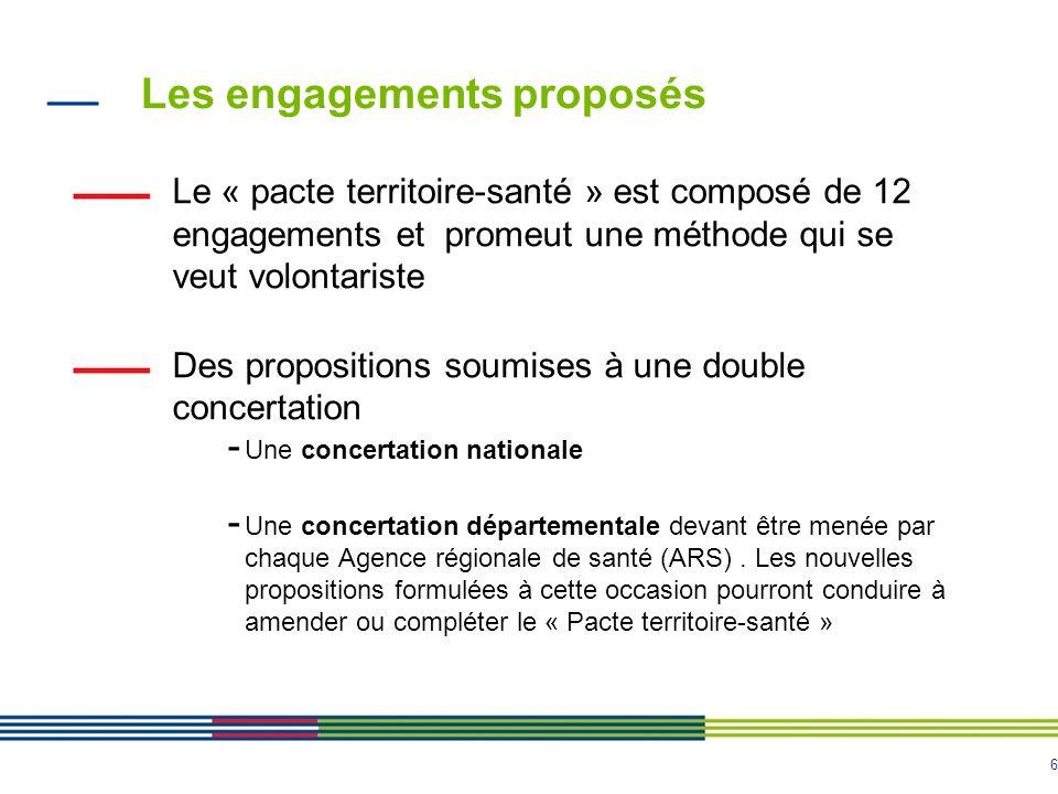 Les engagements proposés