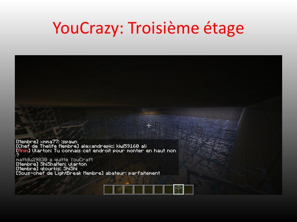 YouCrazy: Troisième étage