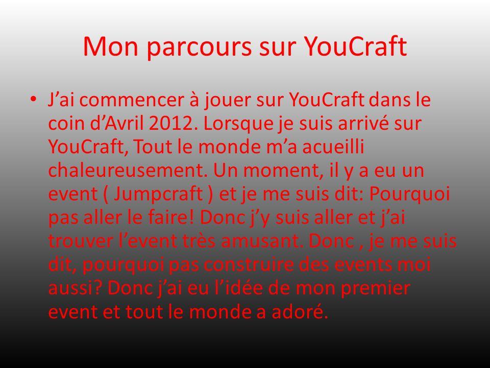 Mon parcours sur YouCraft