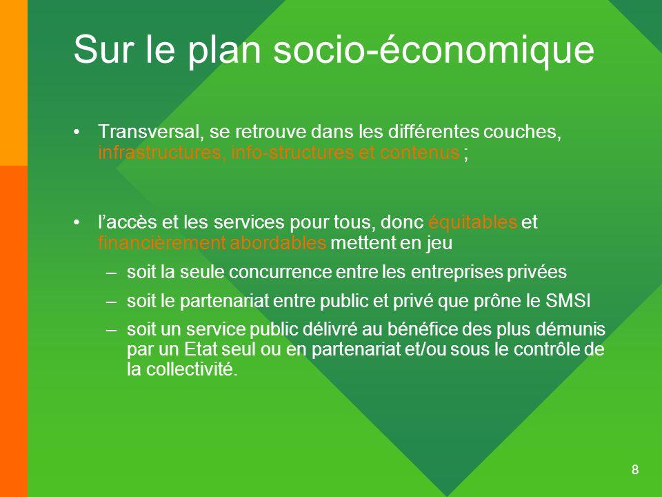 Sur le plan socio-économique
