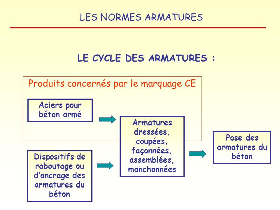 LE CYCLE DES ARMATURES :