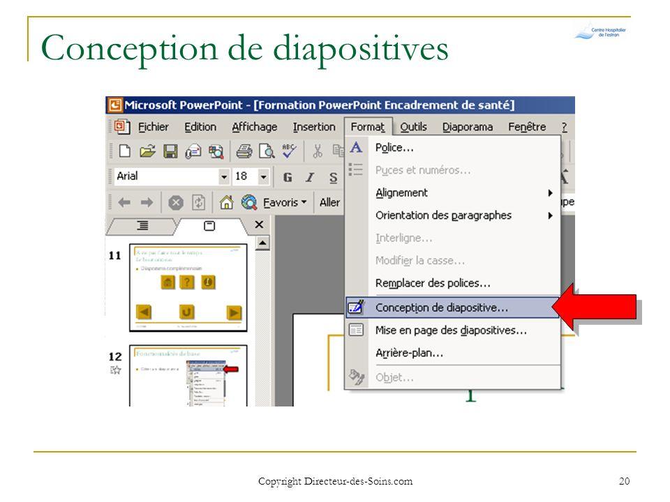 Conception de diapositives