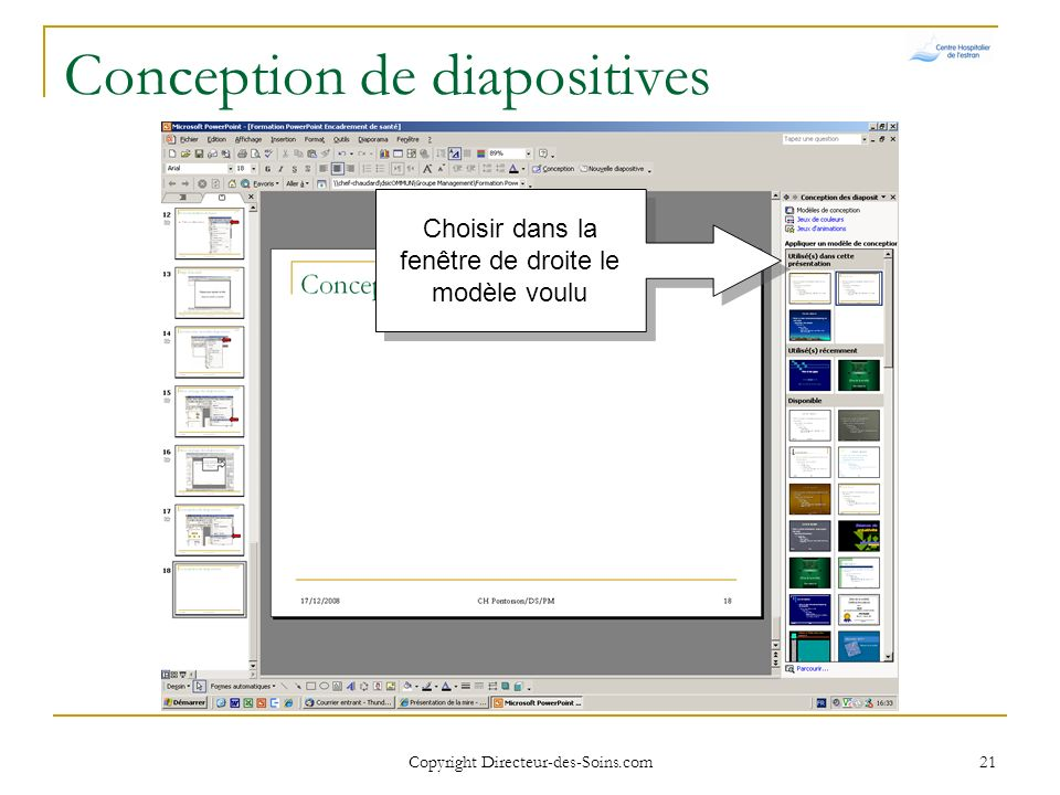 Conception de diapositives