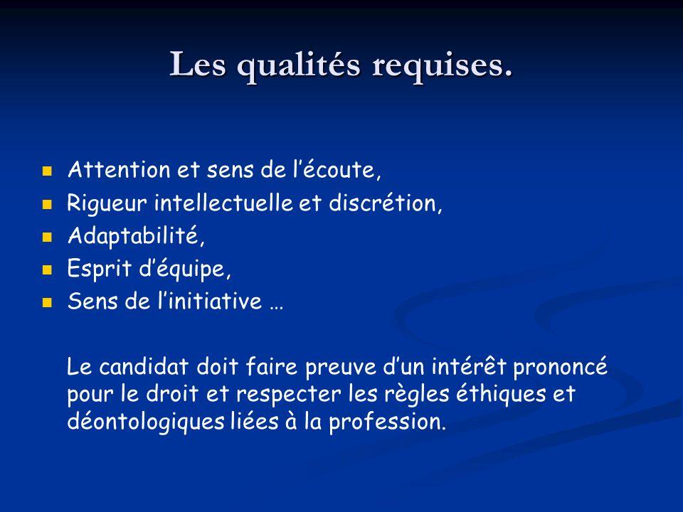 Les qualités requises. Attention et sens de l'écoute,