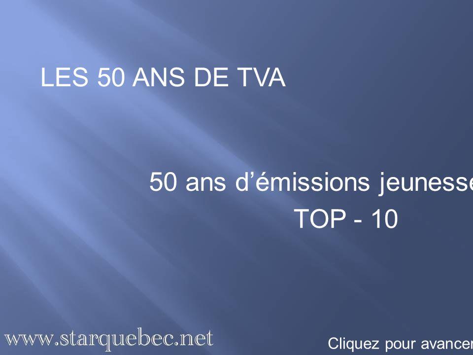 50 ans d'émissions jeunesse TOP - 10