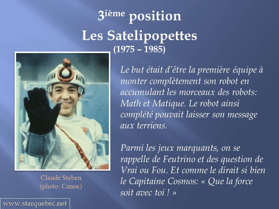3ième position Les Satelipopettes