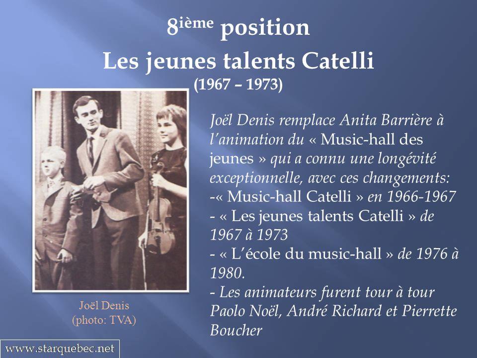 Les jeunes talents Catelli