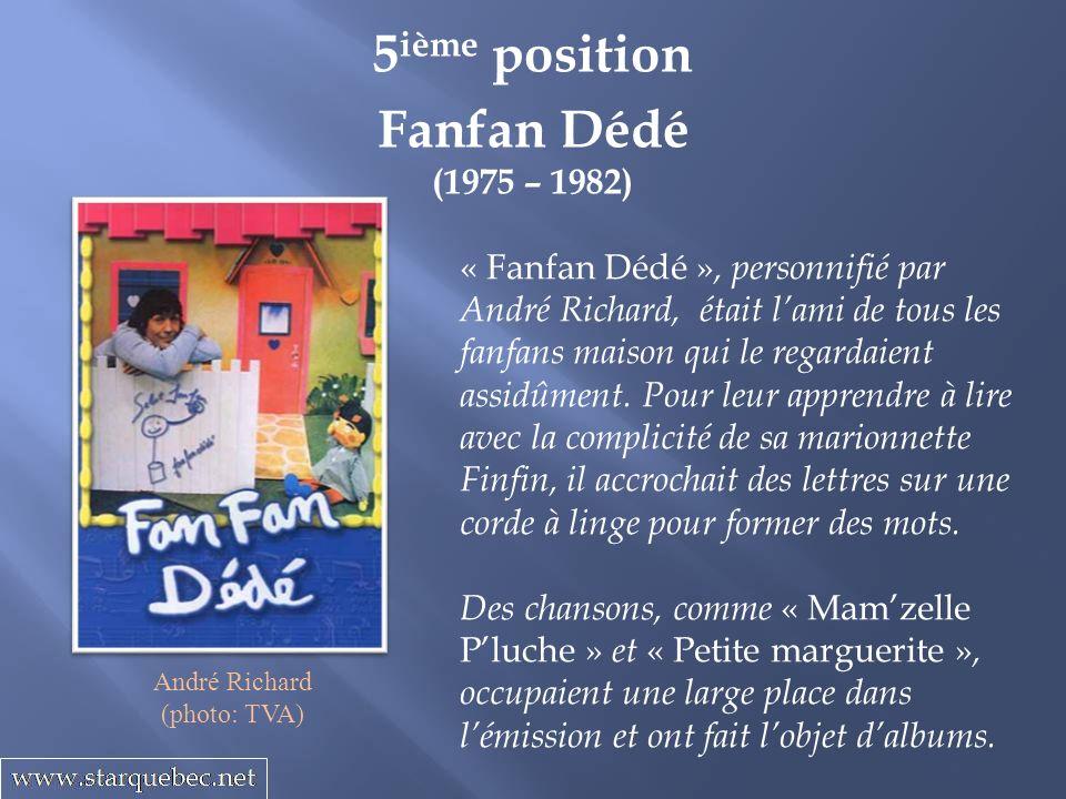 5ième position Fanfan Dédé