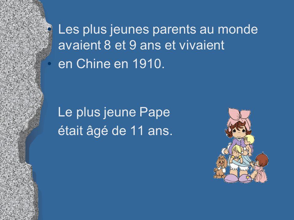 Les plus jeunes parents au monde avaient 8 et 9 ans et vivaient