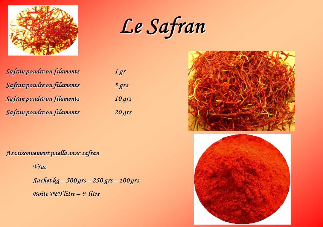 Le Safran Safran poudre ou filaments 1 gr