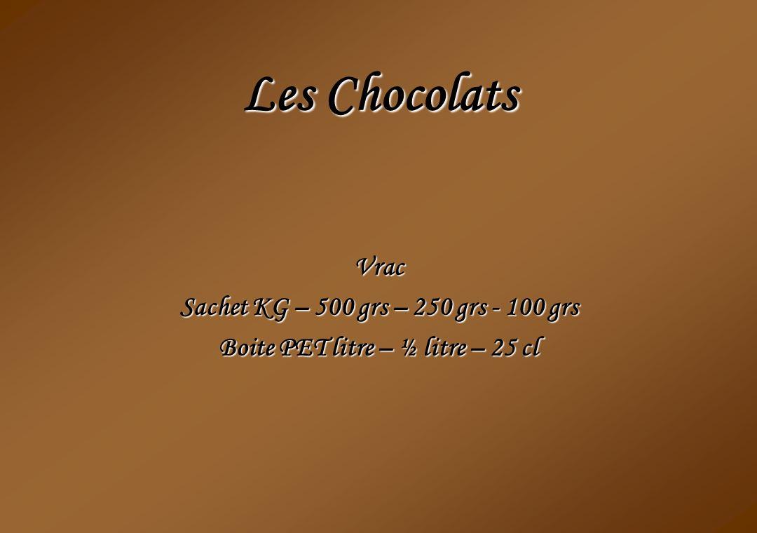 Les Chocolats Vrac Sachet KG – 500 grs – 250 grs - 100 grs