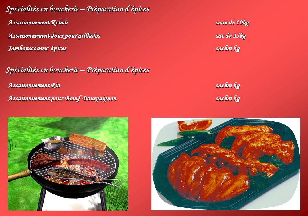 Spécialités en boucherie – Préparation d'épices