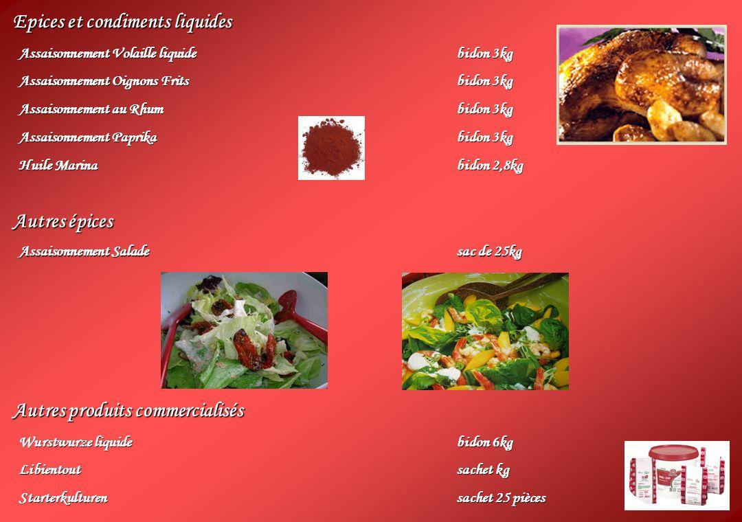 Epices et condiments liquides