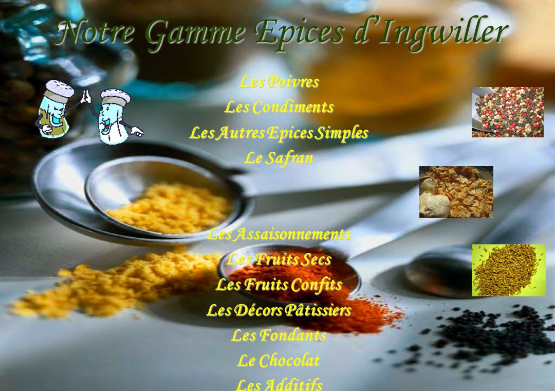 Notre Gamme Epices d'Ingwiller