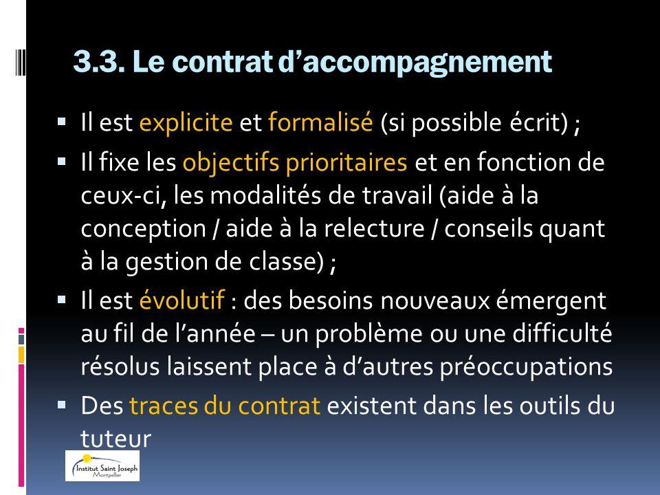 3.3. Le contrat d'accompagnement
