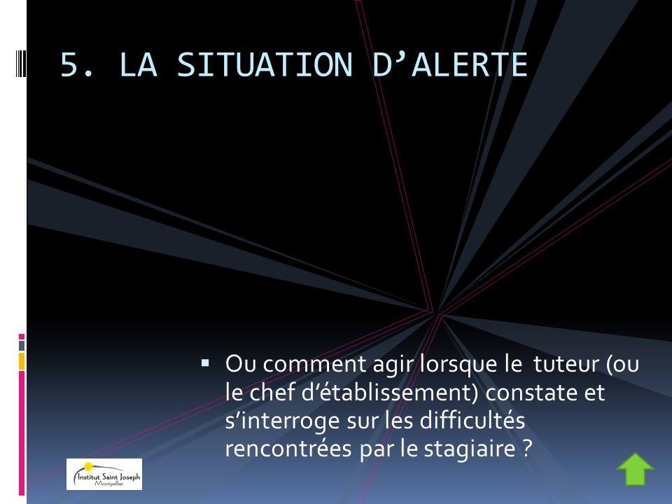 5. LA SITUATION D'ALERTE
