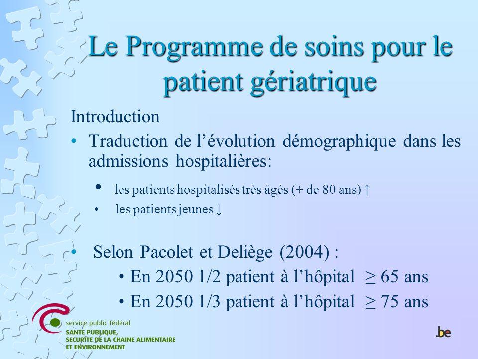 Le Programme de soins pour le patient gériatrique