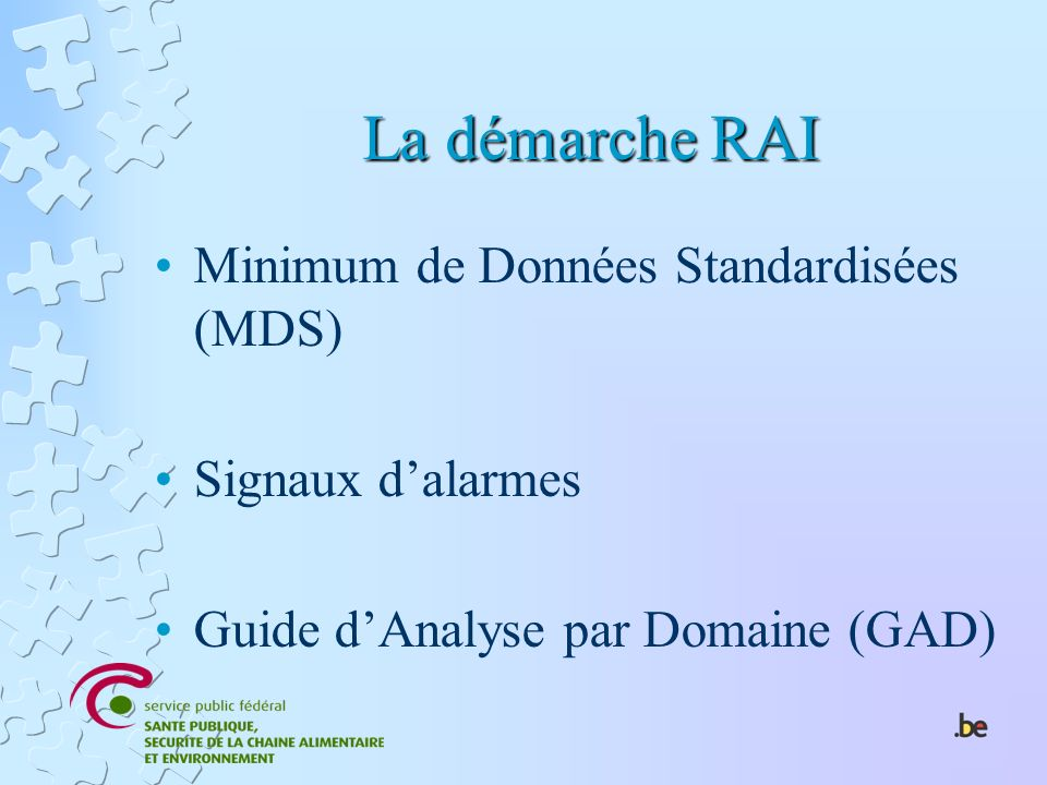 La démarche RAI Minimum de Données Standardisées (MDS)