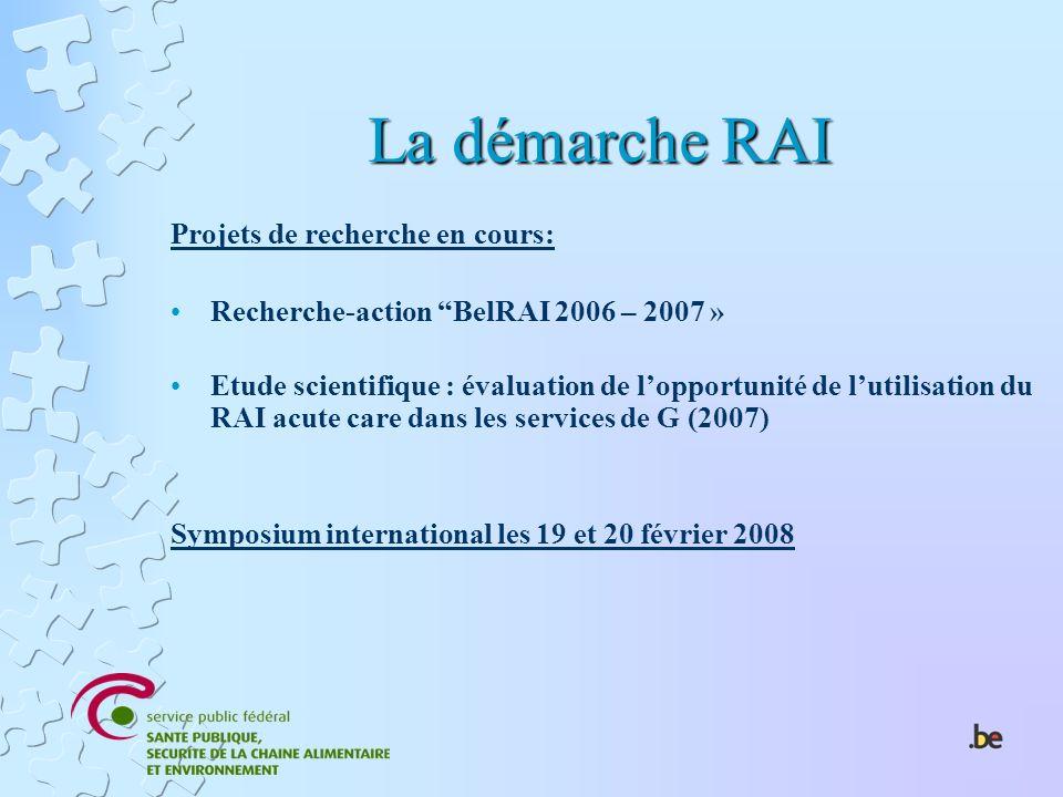 La démarche RAI Projets de recherche en cours: